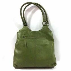Green Plain Ladies Tote Bag