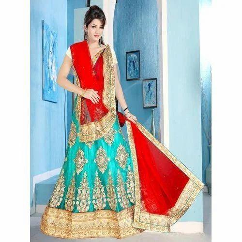 Multicolor Bridal Wear Bridal Lehenga Saree Rs 1500 Piece Payal Art Id 14449709697