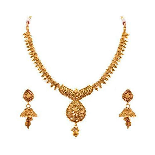 3c108c46b Gold Jewelry Box Ladies Necklace Set, Rs 1200 /set, RJ Traders | ID ...