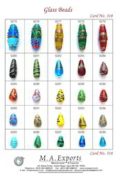 Oval & Cone Mix Cone & Oval Shape Glass Beads