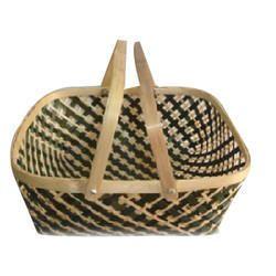 Bamboo Handle Fruit Basket