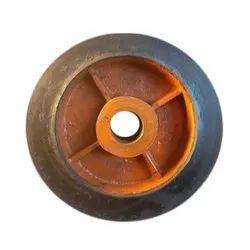 12 Inch Super Fast Rubber Trolley Wheel