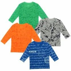 Luke and Lilly Cotton Full Hand Kids T shirts for Baby Boy, Size: 2 to 6 years