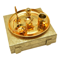 Brass Puja Set