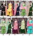 New Stylish Gota Patti Pattern Sharara Salwar Suit