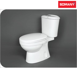White Round Somany Kamp P Trap Two Piece Toilets for Bathroom Fitting