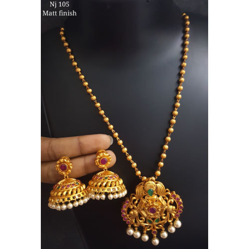 Gold plated necklace set at rs 5000 set gold plated necklace set gold plated necklace set mozeypictures Gallery
