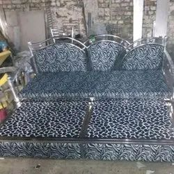 Polished SS Box Bed for Home, Bed Type: Double Bed