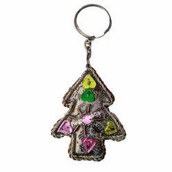 Zari Embroidery X-Mas Key Chain