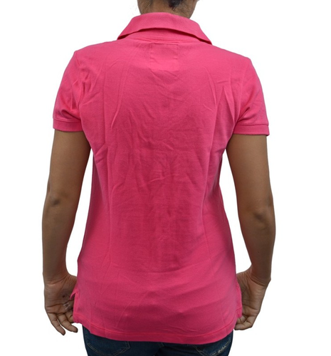 26c8a9e3d Hollister Women's/ Girl's POLO T-Shirt/ Top Pink, Female T-Shirts ...