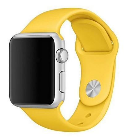 ShopAIS Watch Silicone Iwatch Strap Band Case For 42mm Watch Yellow ... 978ca242312c