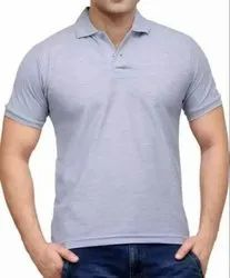 Company Logo Embroidered T Shirts for Men
