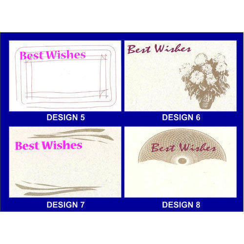 Best Wishes Card, Size: 85x55 Mm, Rs 300 /pack, Vinca