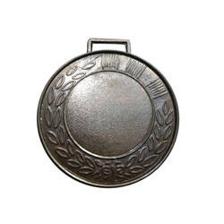 Round Embossed Silver Plated Medal