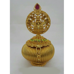 Smart Golden Kumkum Box