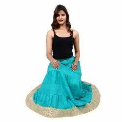 Rayon Plain Skirt