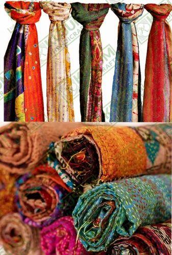 b5ab40e37d23c Assorted Kantha And Wholesale Silk Kantha Scarves Reversible Silk Kantha  Stole Silk Scarves Vintage Silk Kantha