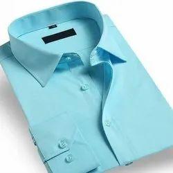 Sky Blue Small Men Readymade Plain Formal Shirts