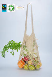 organic cotton colour string bag