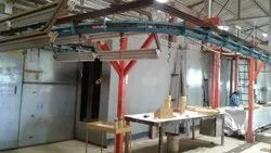 Powder Coating Plants With Overhead