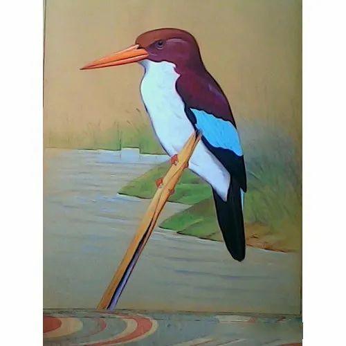 Handmade Glossy Bird Painting