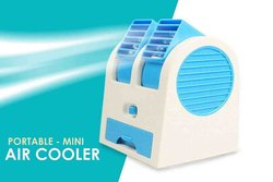 Deodap Chillers 0201 Dual Bladeless Mini Air Conditioner, T_02, Dimension: 12.2*14.4*11.4