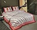 Traditional Print King Size Bed Sheet
