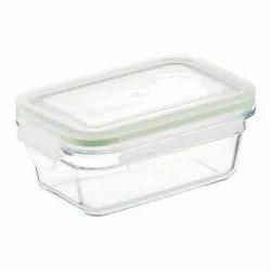Plastic Lock Glass Container