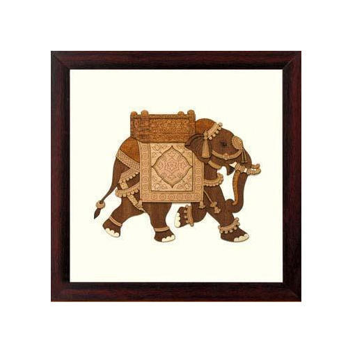 Wooden Elephant Painting Pictures Frame, Lakdi Ke Photo Frames, Wood ...