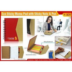 Eco Sticky Note Pad with Pen H-809