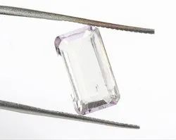 3 Cts Designer Step Cut Kunzite Gemstone