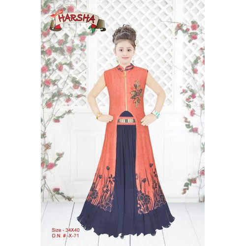 2e23aa0aca Georgette Party Wear Kids Fancy Gown