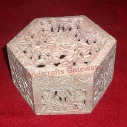 Soapstone Carving Box For Gifts