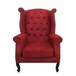 Modern Red Single Seater High Back Sofa Chair, For Home, 48*30*38