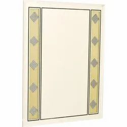 Rectangular Diamond Designer Glass Mirror