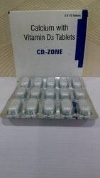 CD-Zone Calcium With Vitamin D3 Tablets, Packaging Type: Blister