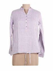 Ladies Stripe Shirt Top