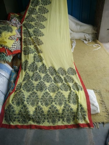 Cotton Handblock Printed Block Printed Saree