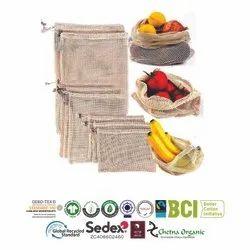 Reusable Cotton Net Bags