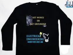 Black Full Sleeve Cotton T-Shirt