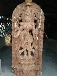 Divine Woden Mahalakshmi 6 ft