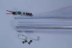 T 5 18 Watt SKD (LED Tube Light Housing Plastic,driver and Edison MC PCB)
