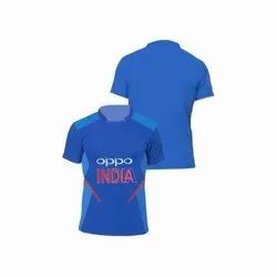 Polyester Blue Indian Cricket Team Jersey
