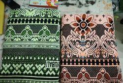 Floral Print Plain SOLAPURI CHADDER BAHUBALI, Type: Single, SINGLE BEDSHEET