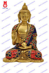 Lord Buddha Blessing Hand W/ Out Base W/ Stone Statue