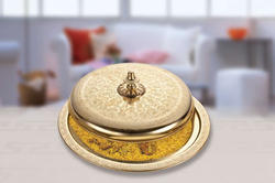 Gaabiah Tajeen Aluminum & Iron Brass Plating Food Platter