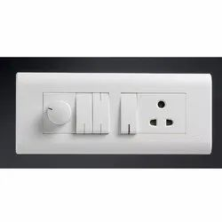 Polycarbonate White Legrand Modular Switch Board, On/Off, 110-250 V