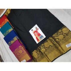 Silk Bordered Saree, Length: 6.3 m