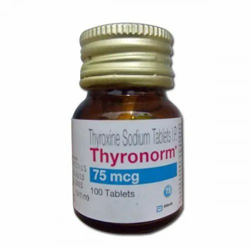 Allopathic Thyronorm 75 Mcg Tablet Packaging Type Bottles Rs