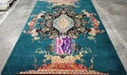 Wool Rectangular Erased Oriental Rug for Home